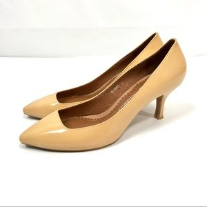 Jeffrey Campbell Ibiza nude tan pointed toe heel